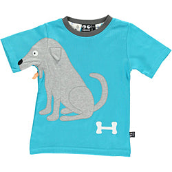 Dog tee - turqouise - STOCK SALE