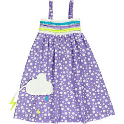 Summer dress - Light lilac dots - STOCK SALE