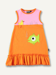 Fish Dress, pink/orange - STOCK SALE