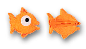 Fish hair clip, orange - STOCK SALE