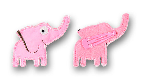 Elephant hair clip pink - STOCK SALE