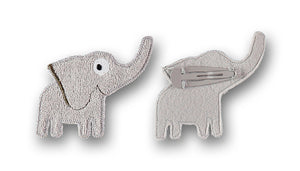 Elephant hair clip grey - STOCK SALE