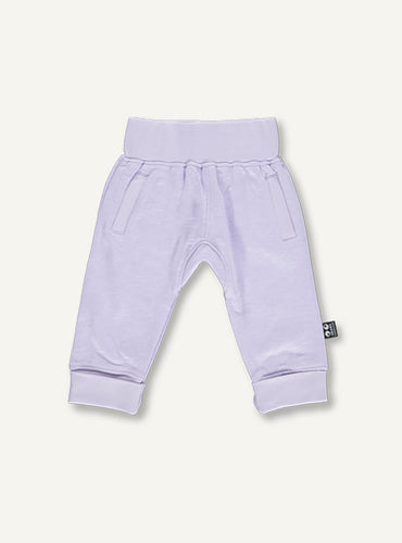 Baby sweat pants -  light lilac STOCK SALE - 12 month