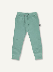 UBANG moss green sweatpants. They have an elasticated waist.