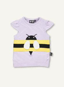 Copy of Baby bee Tee - lilac - SSMPLE SALE - 6 month