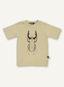 Beetle tee - desert sand - SAMPLE SALE 5 YR
