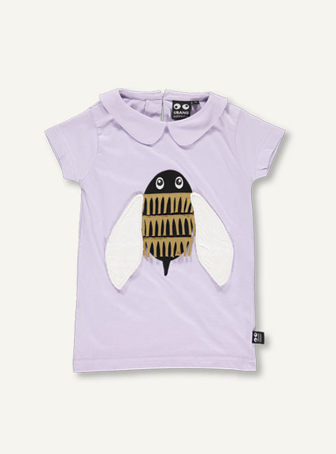 Bumble Bee Tee - lilac - SAMPLE SALE 4YR