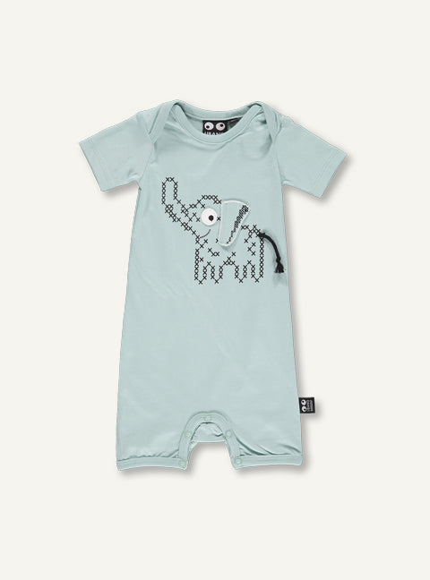 Cross Stitch Baby Onesie, Blue Haze