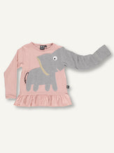 Load image into Gallery viewer, Elephant Frill Tee -  Summer Blush