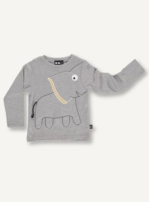 Elephant tee grey - STOCK SALE