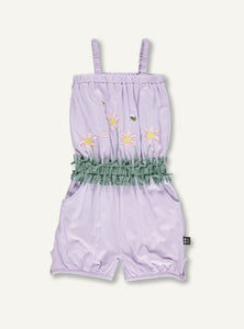 Flower Suit - lilac - SAMPLE SALE 4 YR