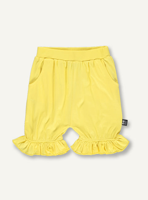 Girls frill shorts - yellow - SAMPLE SALE 4 YR