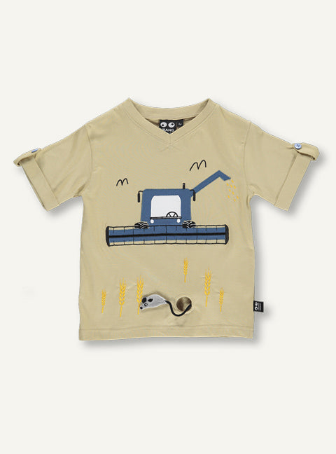 Harvester Tee - Blue  -  desert sand SAMPLE SALE 4 YR