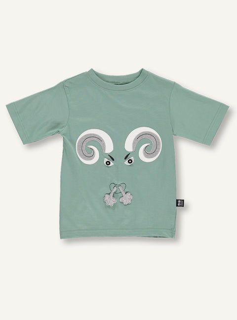 Ram Tee - mos green - SAMPLE SALE - 4 yr