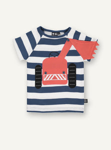 Big Machine Tee, Blue stripe STOCK SALE