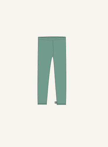 Unisex Legging - mos green - SAMPLE SALE - 2 yr