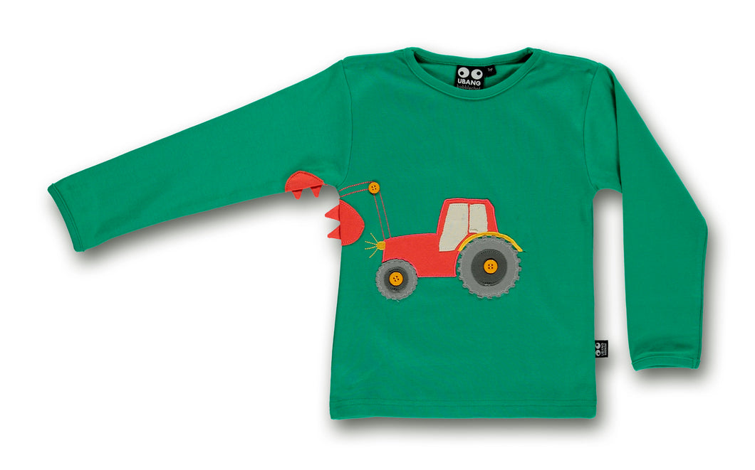 Tractor tee, emerald - STOCK SALE