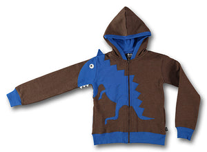 Dino sweat brown blue- STOCK SALE