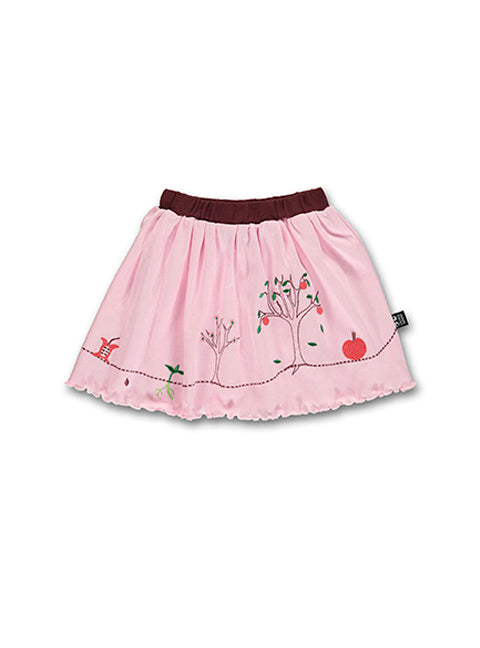 Summer Apple Skirt, Fairy tale pink