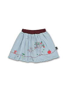 Summer Apple Skirt, Light blue