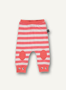 Baby Pants - Light Pink/Red Stripes -  STOCK SALE