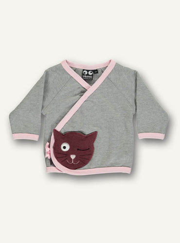 Cat baby sweat grey-pink STOCK SALE