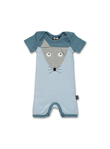 Mouse Baby Onesie, blue - STOCK SALE