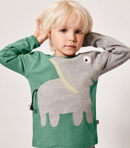 Elephant T-shirt - Green - NEW!!!