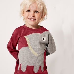 Elephant T-shirt - Brick red _ NEW!!