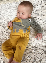 Load image into Gallery viewer, Baby Elephant onesie - Vintage Yellow - NEW!