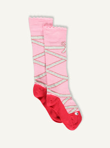 Ballet sock - pink glitter - STOCK SALE