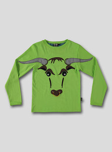 Bull tee - bright green - STOCK SALE