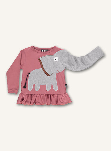 Elephant Frill Tee - Faded rose