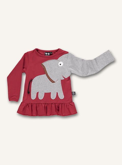 Elephant Frill Tee - Red