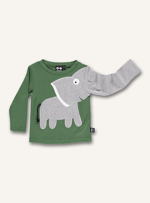 Elephant Tee - Hedge green