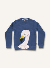 Load image into Gallery viewer, Flamingo Sweatshirt - Dark denim - STOCKSALE