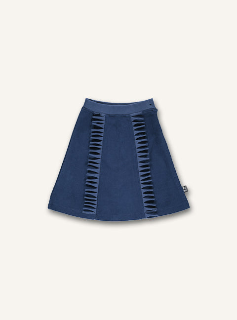 Fringe skirt - Dark denim