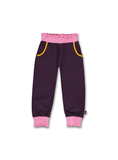 Girls pants plum-pink - STOCK SALE