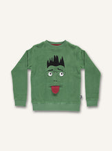 Load image into Gallery viewer, UBANG long-sleeved sweatshirt with a funny face on the front.