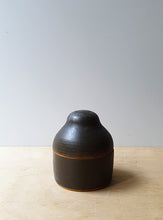 Load image into Gallery viewer, Dark brown lidded jar
