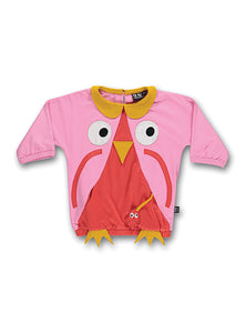 Owl tee pink - STOCK SALE