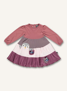 Penguin Dress - Faded rose