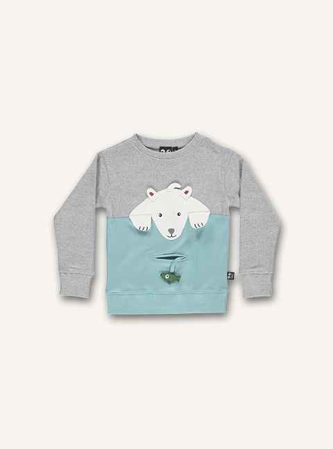 Polar Bear Tee - Grey melange