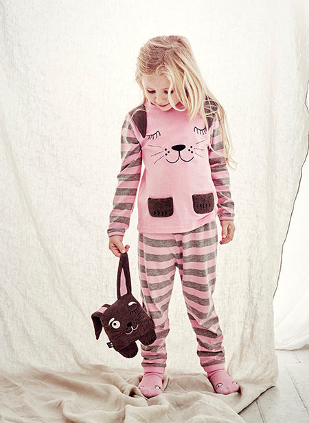 Rabbit  pajamas - Sleepy Pink - STOCK SALE