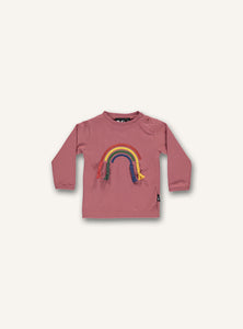 Baby Rainbow Tee - Faded rose