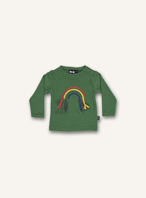 Baby Rainbow Tee - Hedge green