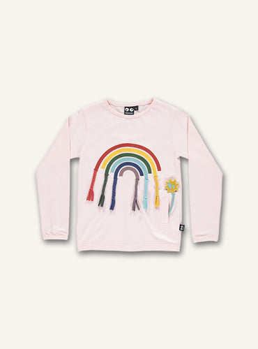 UBANG t-shirt with a rainbow on the front. It has long-sleeves.