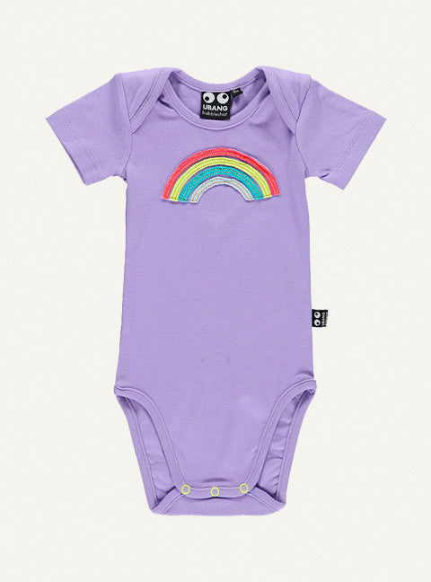 UBANG rainbow body in lilac. It has a rainbow on the front.