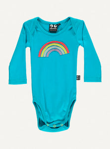 Baby Rainbow body turquoise l/s - STOCK SALE