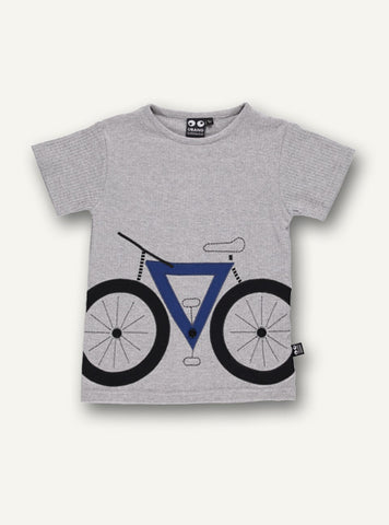 Bike Tee s/s - Grey Melange